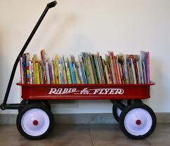 wagon full of books